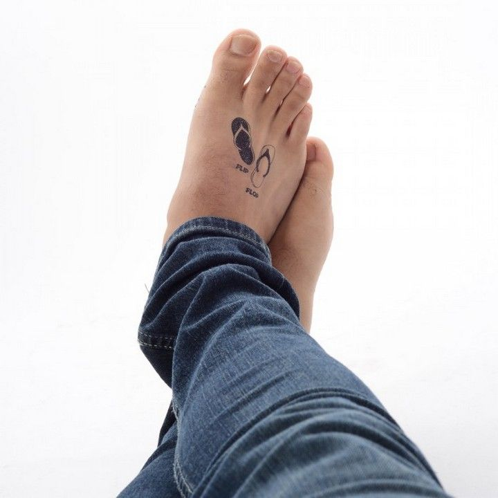 The beautiful of flip flop tattoo designs http for Flip flop tattoo