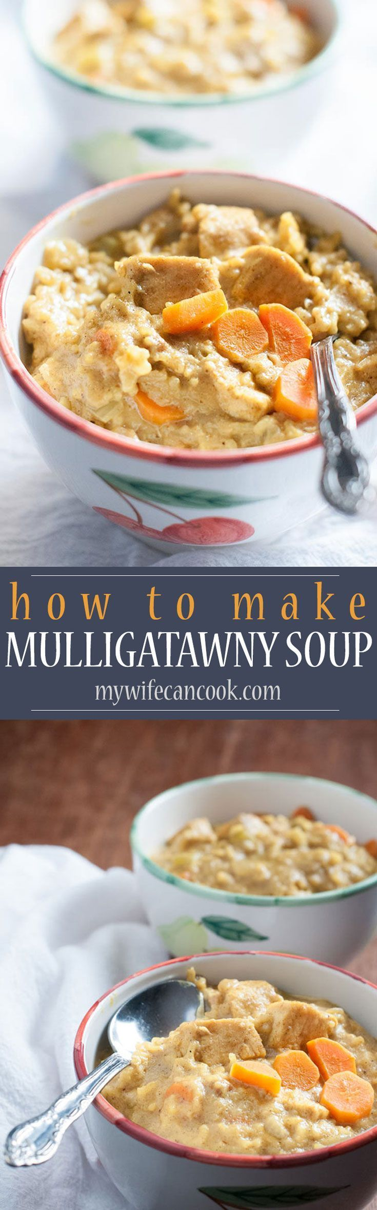 Easy Mulligatawny Soup #mulligatawnysoup Mulligatawny soup is an Indian soup full of flavor--the main spices we use are garam masala and curry.  Packed with spices, chicken, rice, coconut milk, veggies, and apple.  Freeze the leftovers and have mulligatawny soup for dinner or lunch. #mulligatawnysoup Easy Mulligatawny Soup #mulligatawnysoup Mulligatawny soup is an Indian soup full of flavor--the main spices we use are garam masala and curry.  Packed with spices, chicken, rice, coconut milk, vegg #mulligatawnysoup