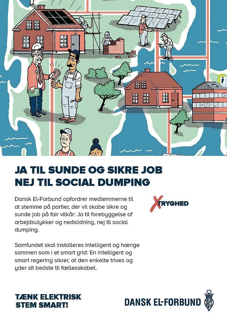 Dansk El-Forbunds opfordring til medlemmerne før valget: 'Tænk elektrisk, Stem smart' #fv15 #dkpol #tv2valg