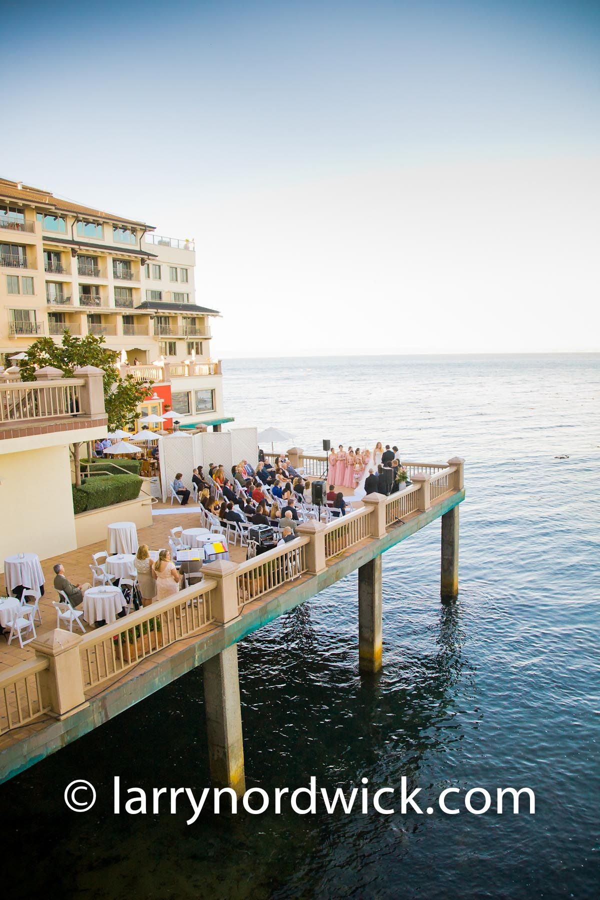 Monterey Plaza Hotel Wedding Lower Terrace Ceremony Facing The Bay Creative Images Photography