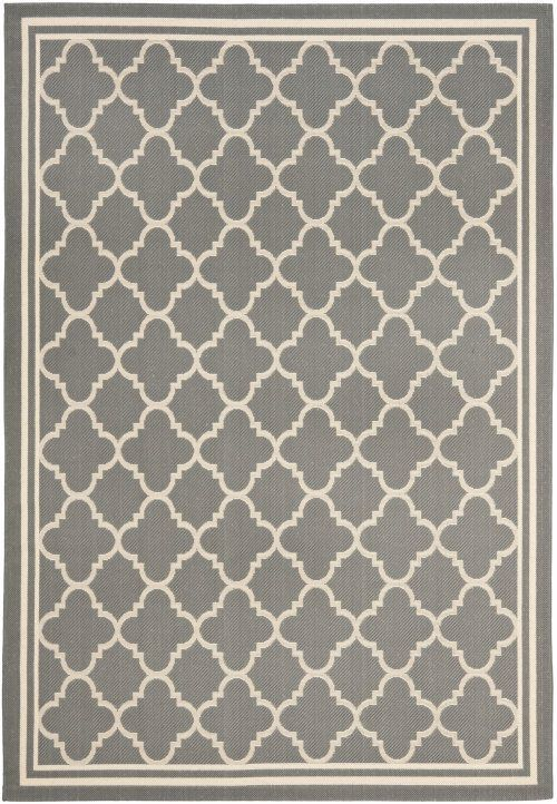 Courtyard CY6918-246 Grey Transitional Machine Made Polypropylene Area Rug