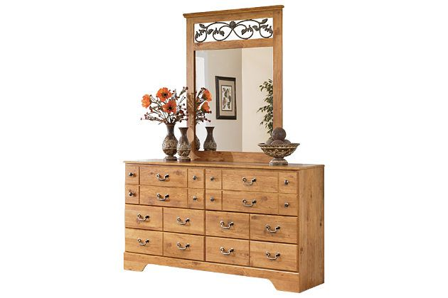 Light Brown Bittersweet Dresser And Mirror By Ashley Home