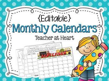 Editable Calendar October November December 2019 Editable} Monthly Calendars 2018 2019   Classroom Management