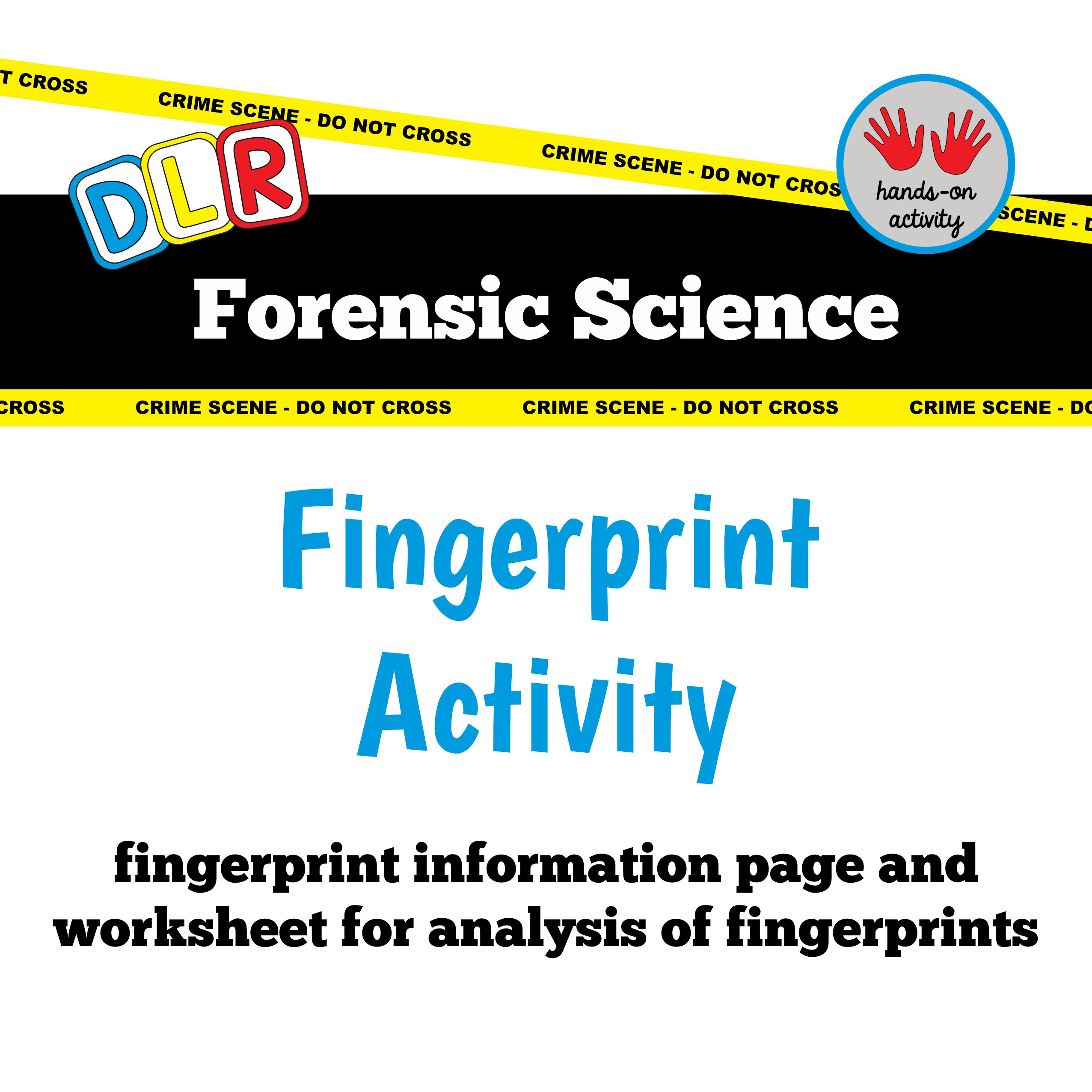 Forensic Science Fingerprint Diagrams Amp Activity
