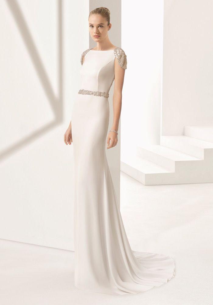 Rosa Clara Embellished Modern Chic Wedding Gown Designer