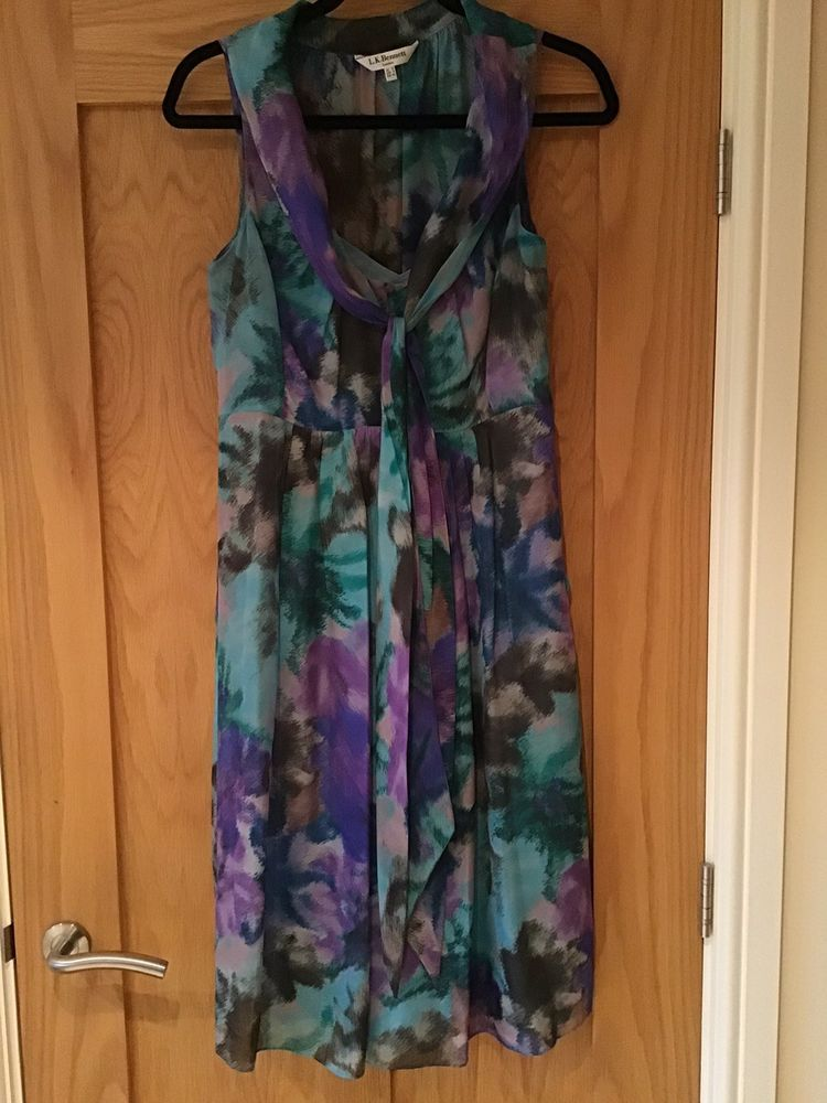 Stunning Silk Dress from L K Bennett in size 12 NEW  fashion  clothing   shoes 097969b66