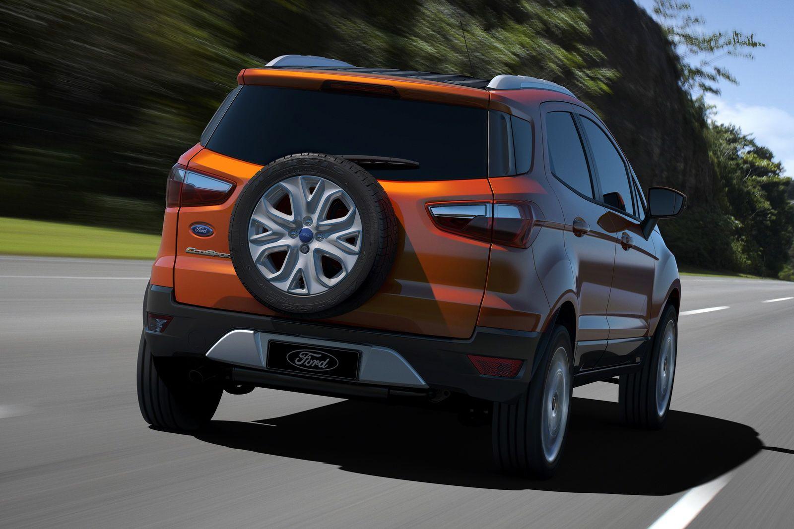 Traseira da nova ecosport 2013 da ford foto oficial do modelo titanium