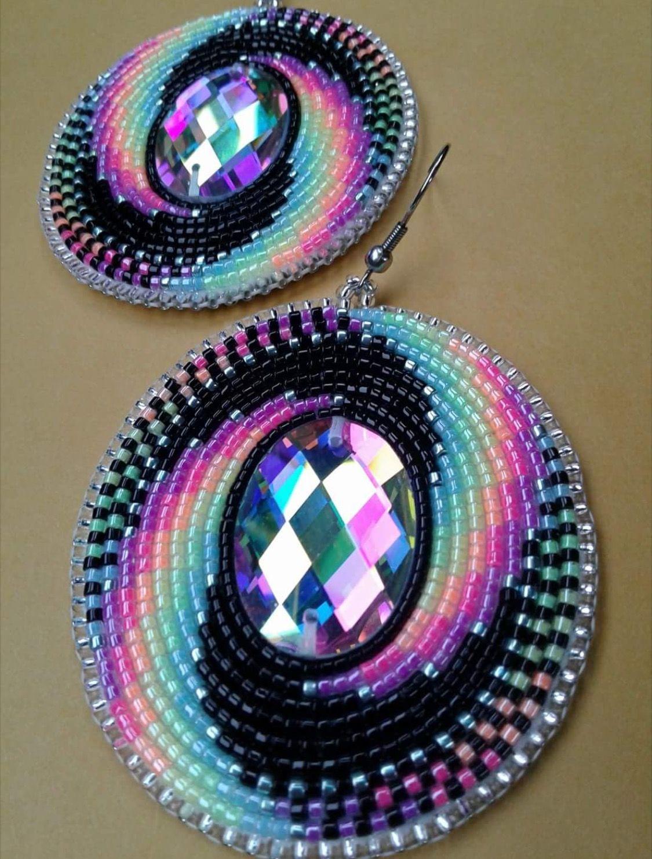 how to make beaded earrings native