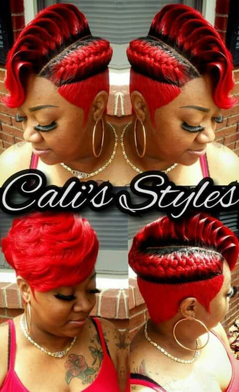Fire Engine Red Hair Shows Hair Styles Hair Creations