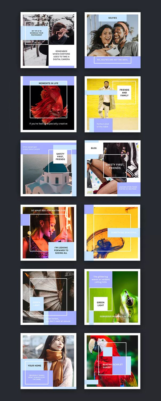 Modern Social Media Kit 12 Psd Templates 1200x1200 Px