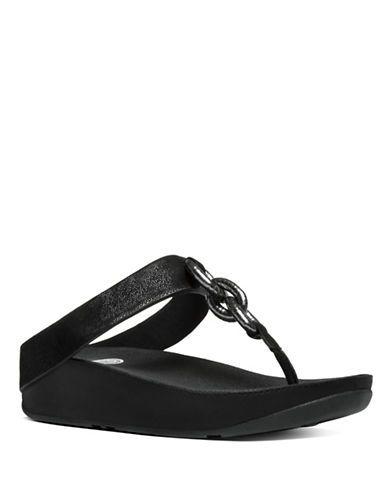 Fitflop Superchain TM Chain Thong Sandals Women's Black 6