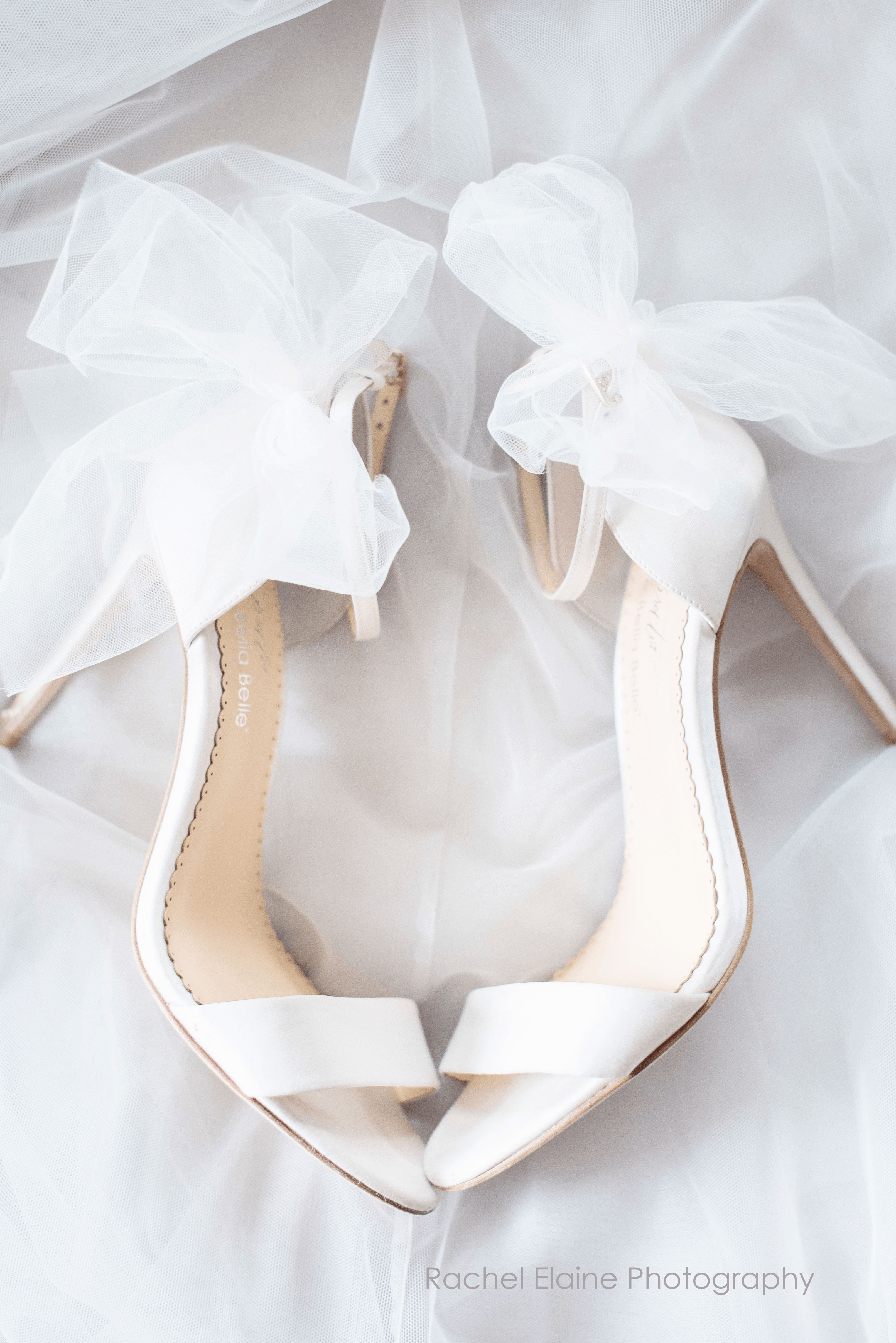 Ivory Wedding Shoes With Bow Tulle In 2021 Wedding Shoe Trend Trending Shoes Bride Shoes