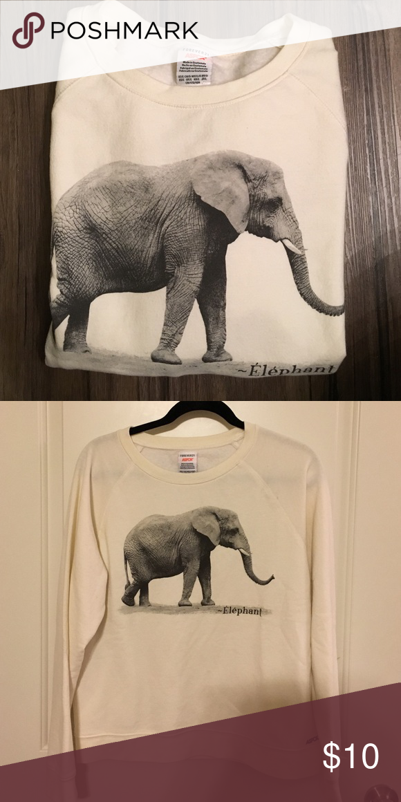 917edaa941a4b4 ASPCA Elephant sweatshirt Very soft sweatshirt