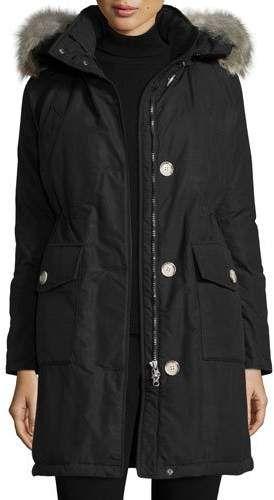 Black Coyote Fur Coat Neiman Marcus >> Long Hooded Arctic Parka Coat W Coyote Fur New Black Trim Canada