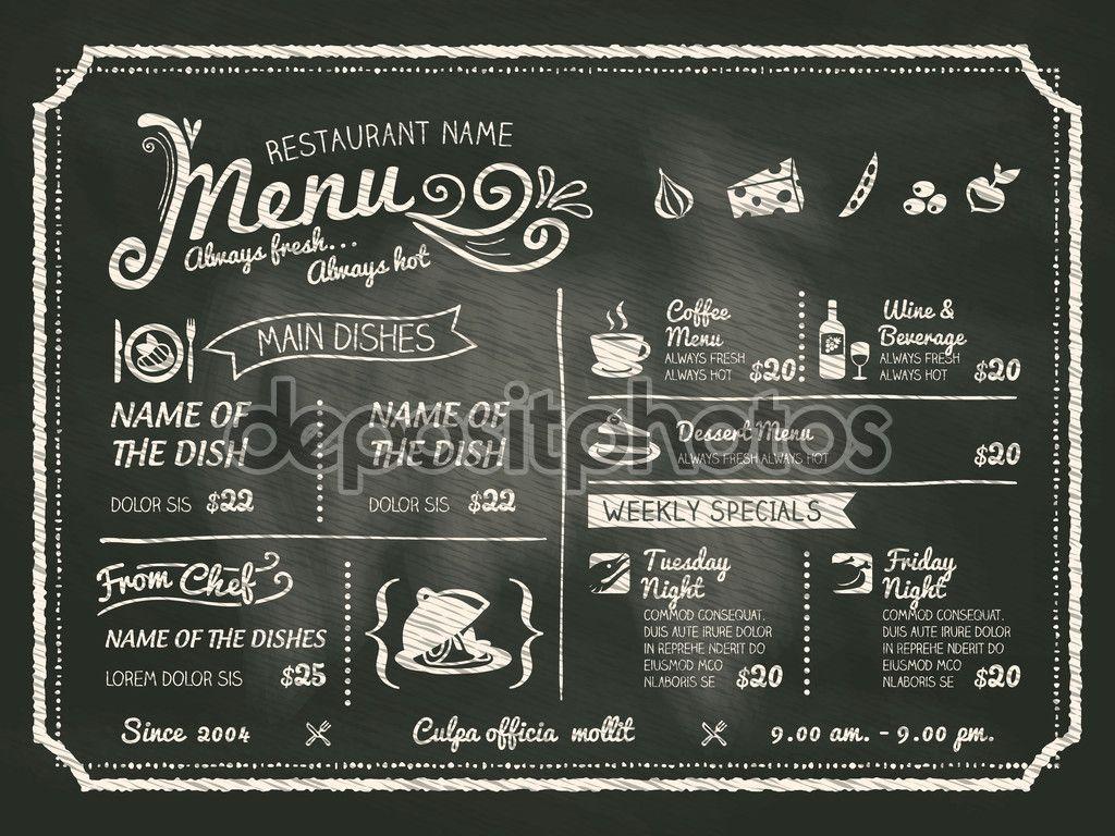 Descargar dise o del restaurante comida men con fondo - Carteles de cocina ...