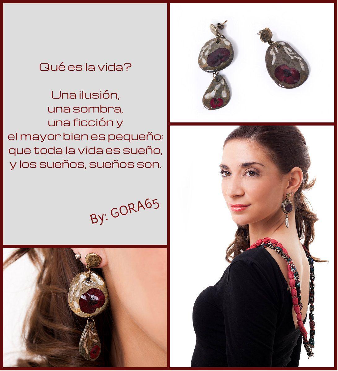 Pequeña y especial joya inspirada en el poema de Pedro Calderón de la Barca. conoce más sobre esta pieza en: http://virtualmodelshop.es/tienda/sonos-ceibos-pendientes/