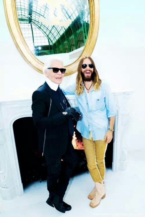 Jared Leto and Karl Lagerfeld
