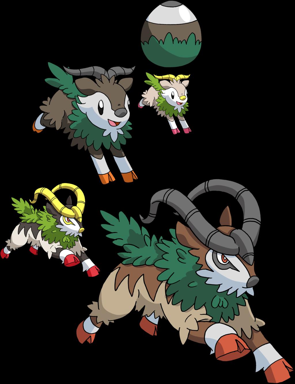 672 And 673 Skiddo Evolutionary Family By Tails19950 Deviantart Com On Deviantart Pokemon Project Dragon Cat Shiny Pokemon