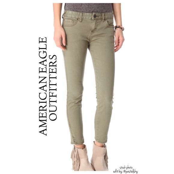 94f58ca7b91c6 AEO sateen crop jeggings NEW with tags, never worn & in perfect condition.  cropped