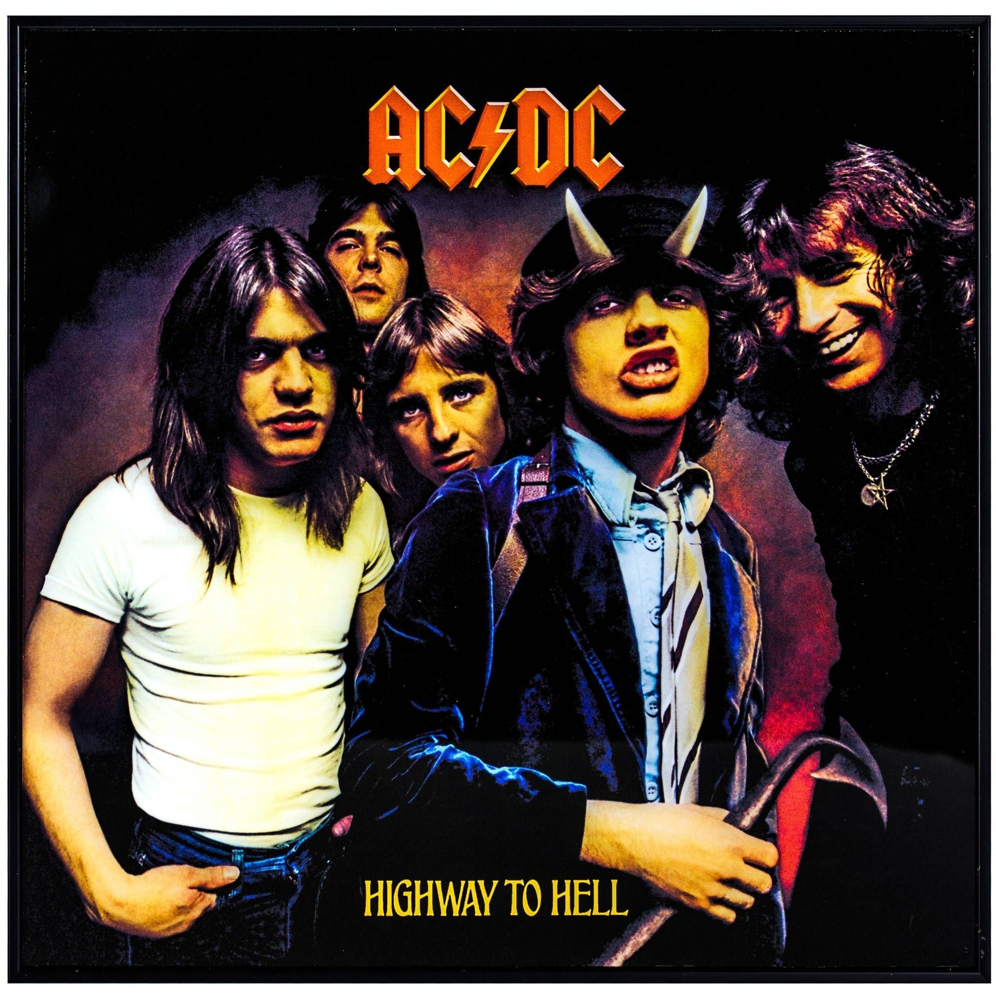 Acdc highway to hell framed album cover wall art products acdc highway to hell framed album cover wall art malvernweather Choice Image
