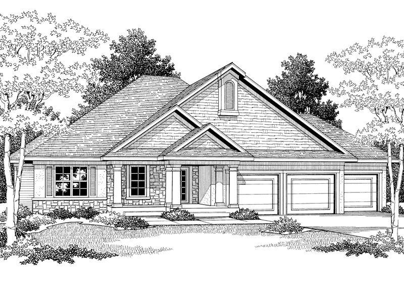 Cold Lake Craftsman Ranch Home Craftsman House Plans Craftsman Ranch Lake House Plans