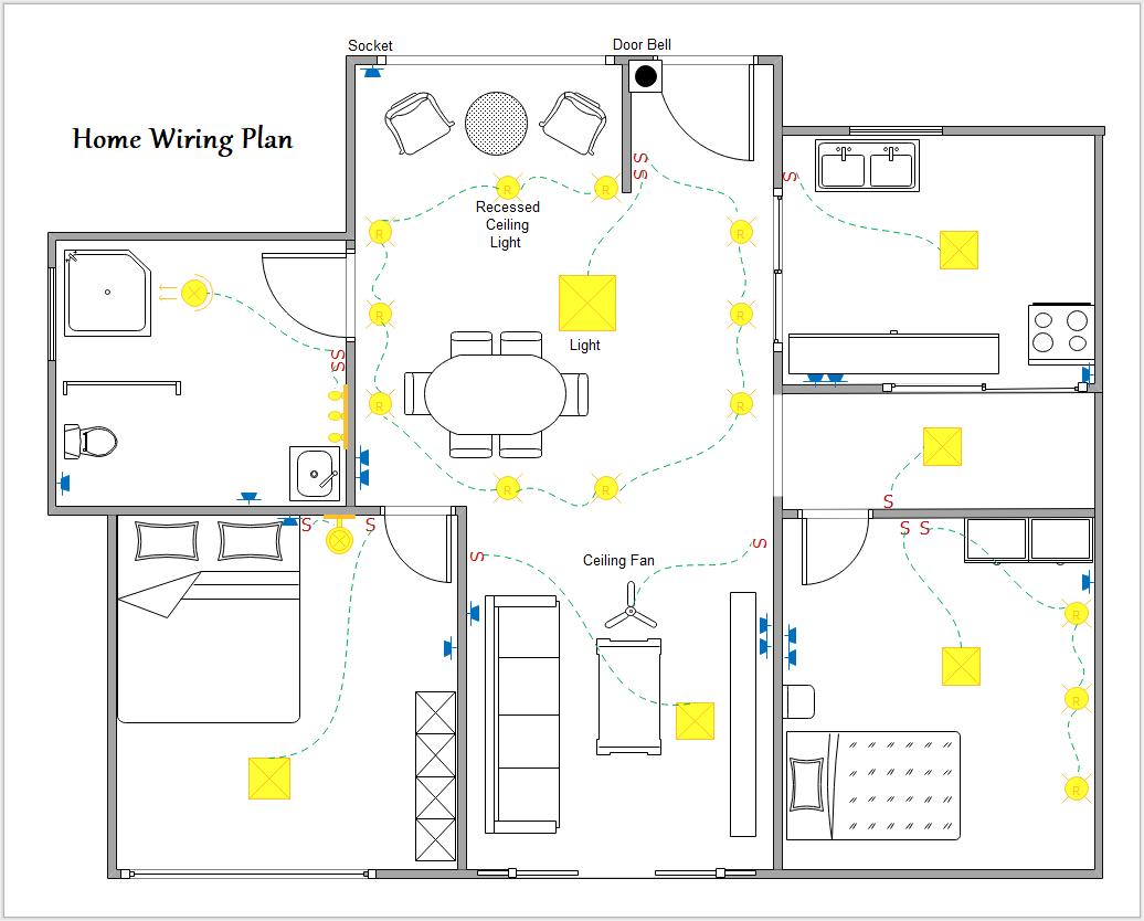 Stromlaufplan Hausverkabelung Elektroverkabelung Elektroinstallation Haus