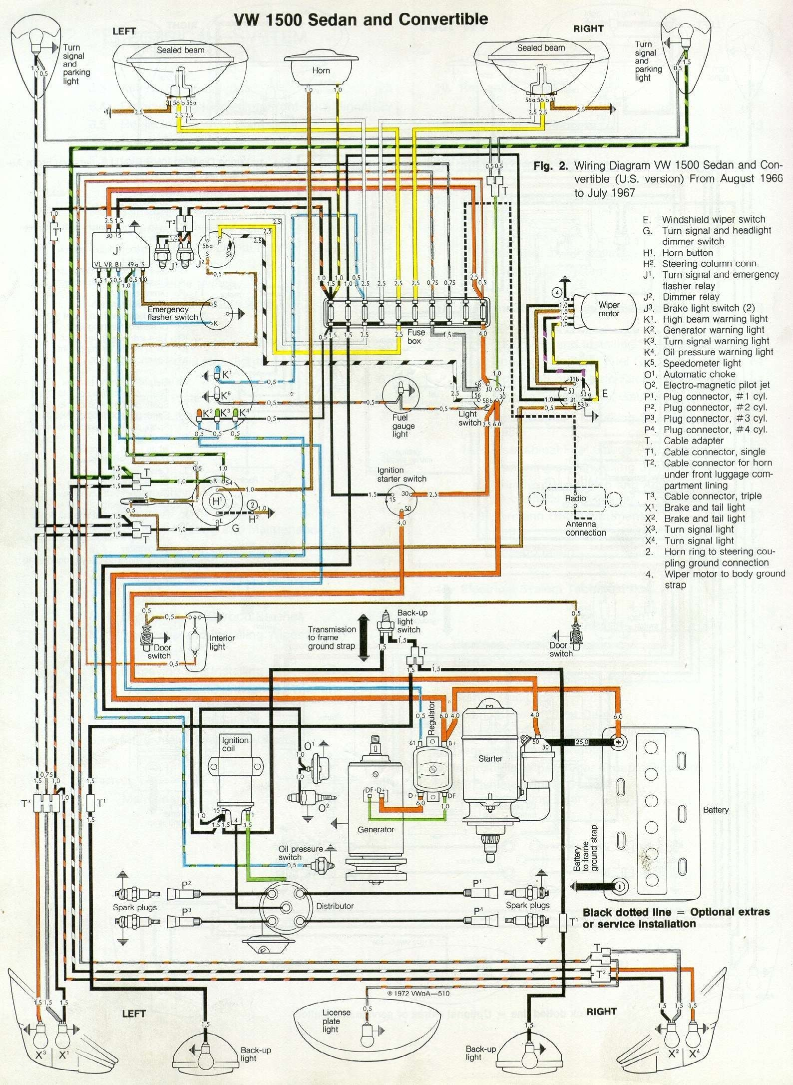 Image Result For 67 Vw Bug Wiring Diagram With Images Vw