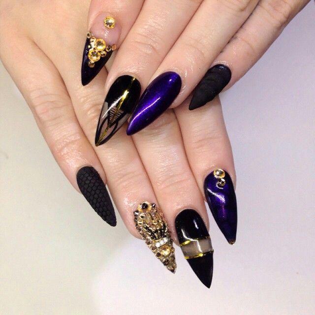 Nails By: Mz Tina   Elegant nail designs, Gold glitter