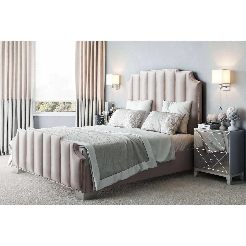 d2e5d614fa55 Natalie Beige Linen Bed in Queen | Products | Furniture, Velvet ...