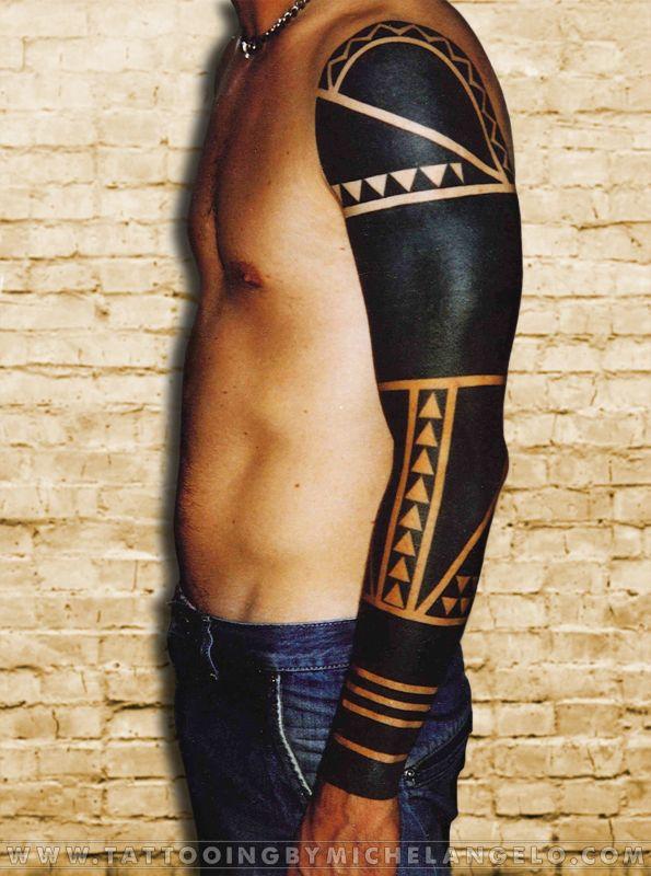 manica blackwork blackwork tattoo by michelangelo tribal. Black Bedroom Furniture Sets. Home Design Ideas
