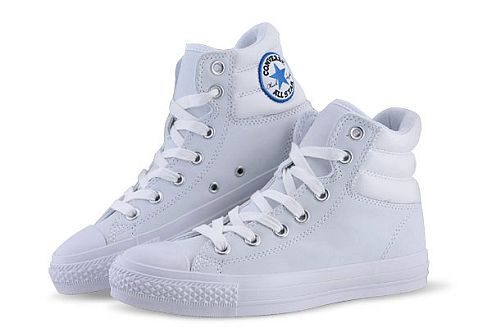 80adba2e72af Converse Chuck Taylor All Star White CT As Specialty Padded Collar High Top  Leather Shoes-- luvvvvv