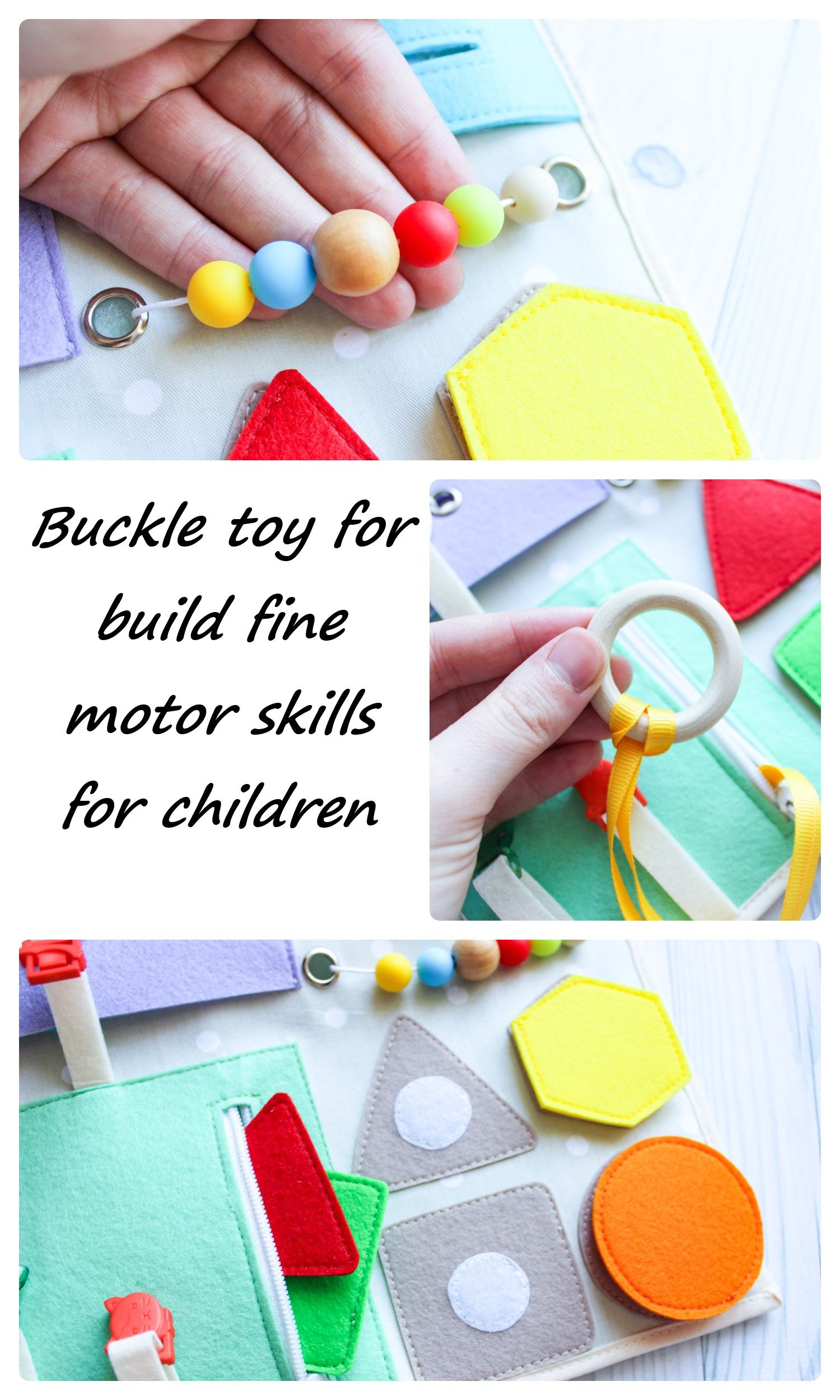 Buckle Toy For Build Fine Motor Skills For Children From 1