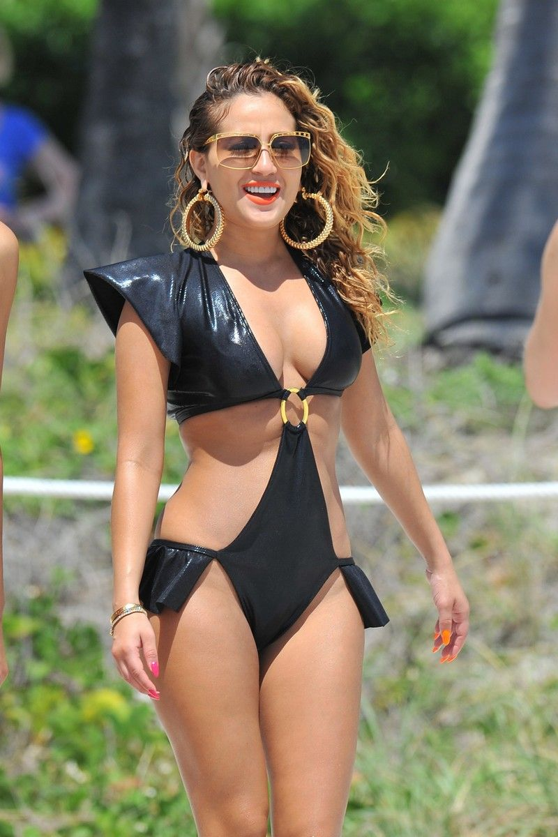 Adrienne Bailon - Empire Girls Bikini Set Candids