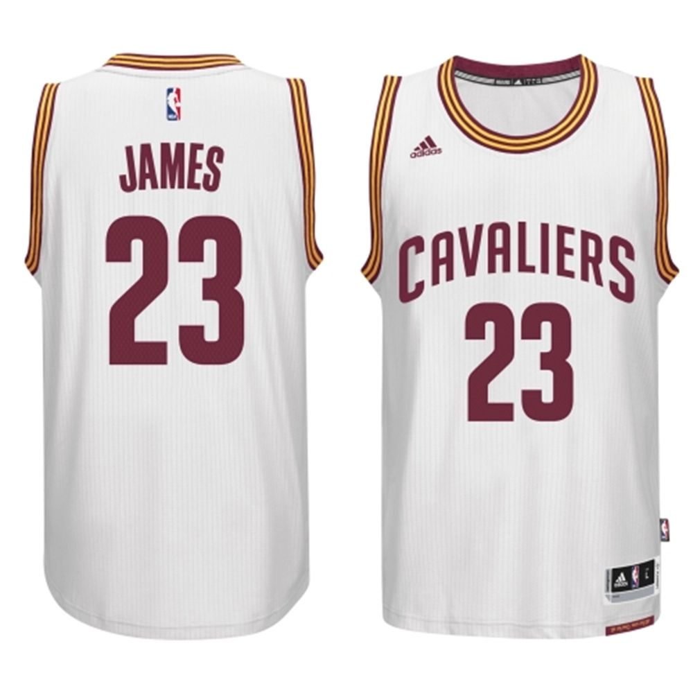 40d84556afc0 Mens Cleveland Cavaliers LeBron James adidas White 2014-15 New Swingman  Home Jersey - NBA Store