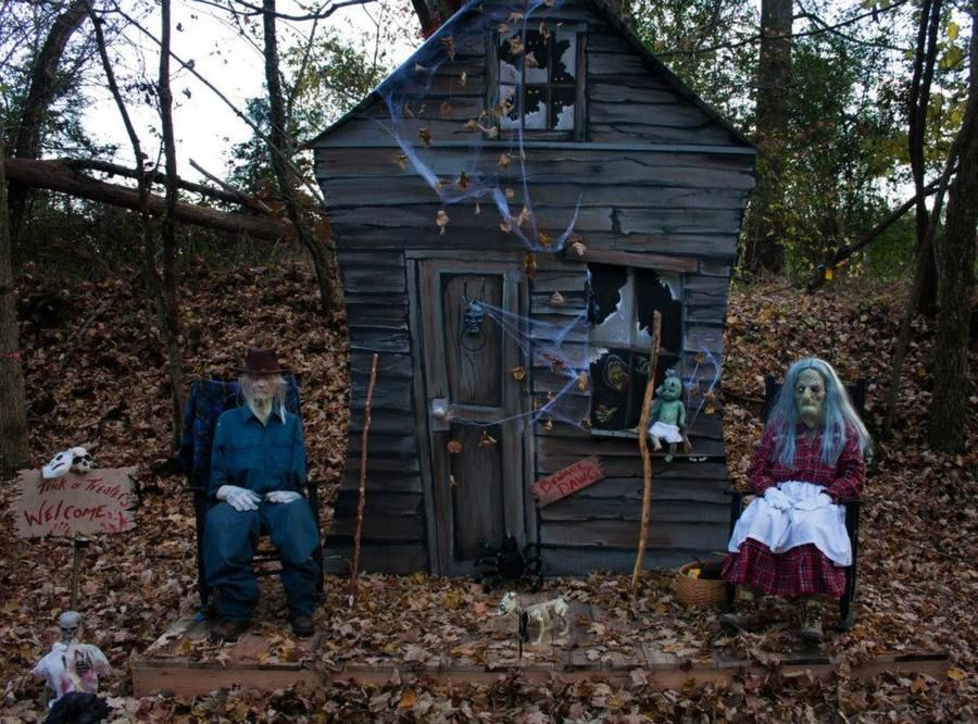 The haunted trail hayride is a 30 minute spine tingling for Haunted house scene ideas