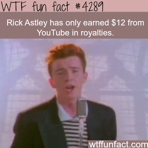 Rick Astley Never Gonna Give You Up Wtf Fun Wtf Fun Facts Weird Facts Famous Memes
