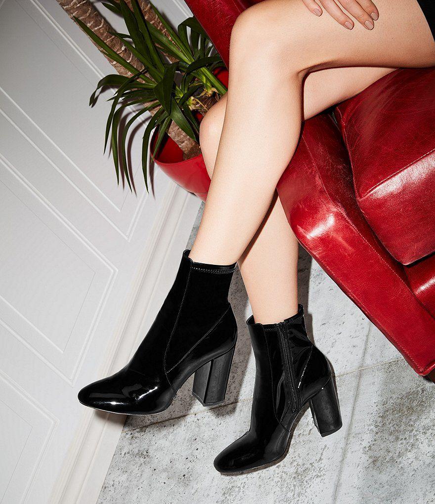 29f6a9a5eb1 ALDO Aurella Patent Block Heel Booties