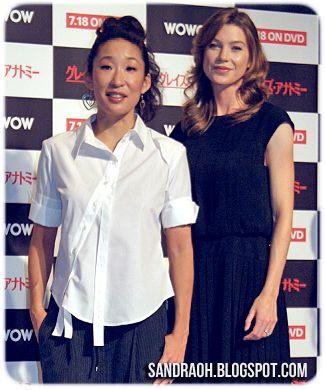 Photo de Ellen Pompeo  & son ami Sandra Oh