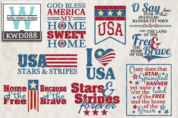 Pin By Kathy Winters Designs On Kw Designs Vector Files Patriotic Shirts Stencil Templates Silhouette Cameo Projects
