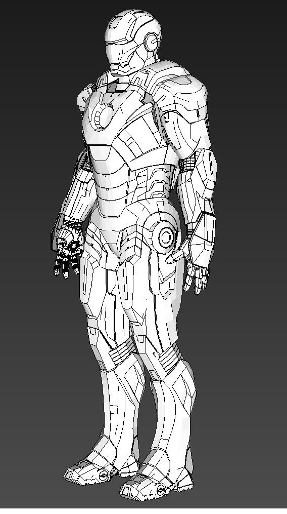 Jtm 39 s hd iron man mkvii foam templates files and build for Iron man suit template