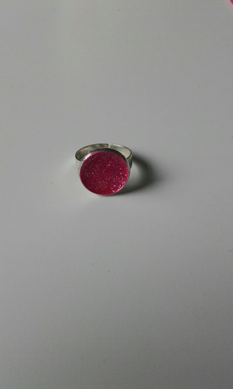 Pink sparkle ring