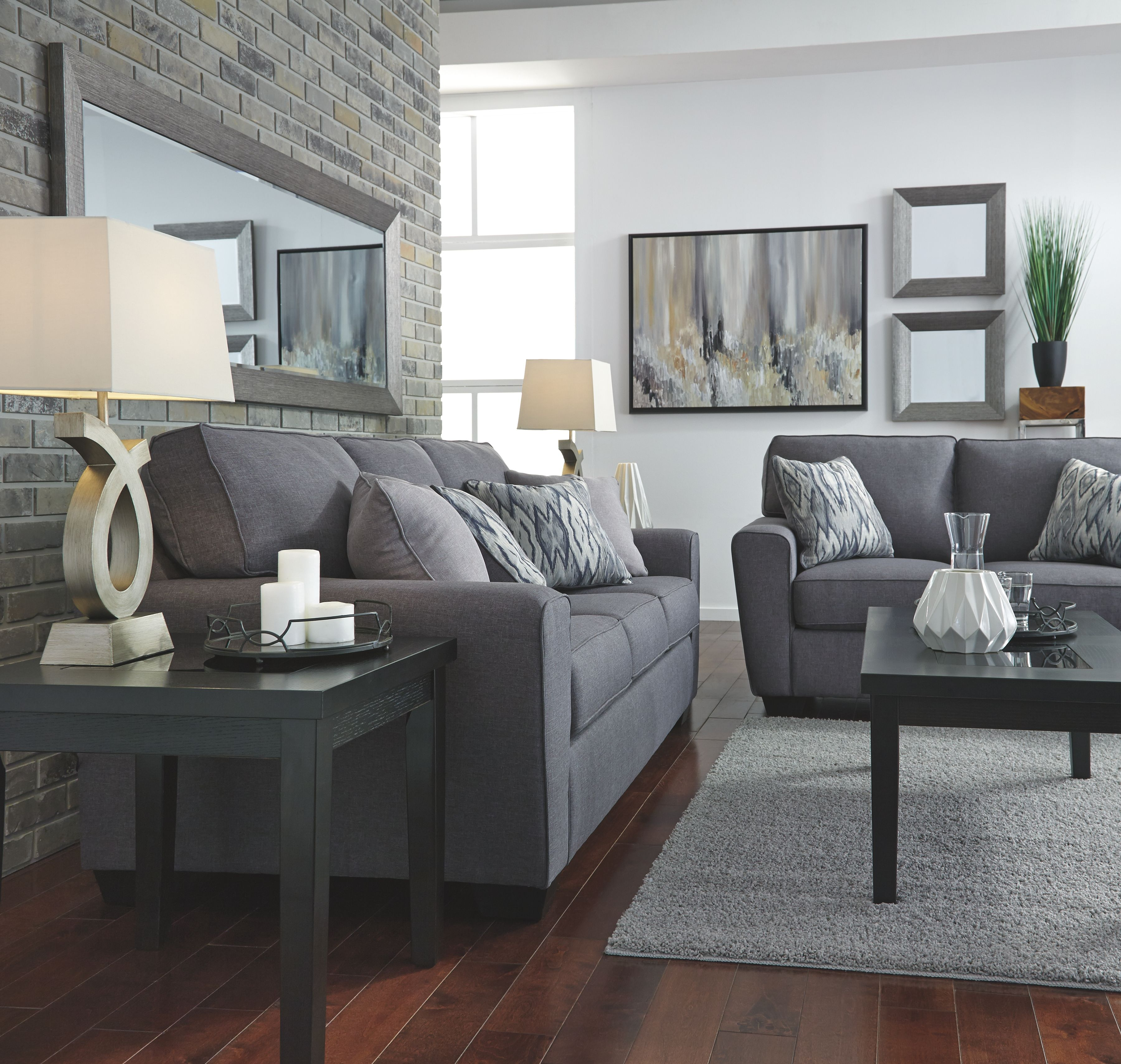 Best Calion Sofa Gunmetal Ashley Furniture Living Room 400 x 300