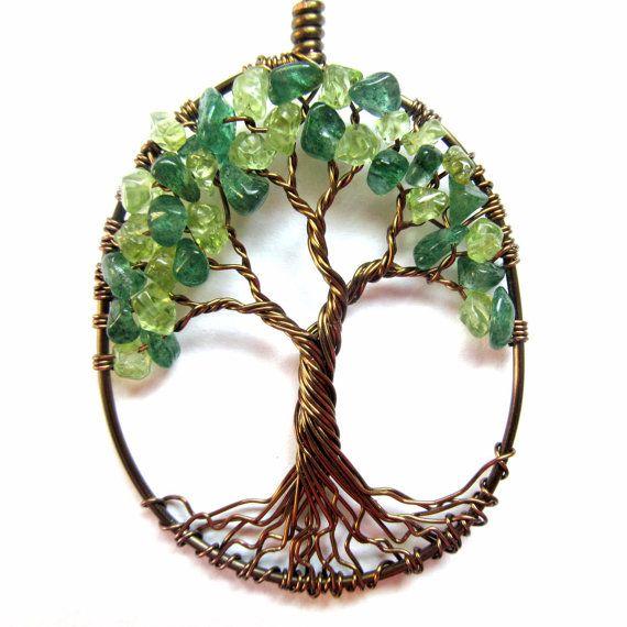 Green Aventurine Jewelry Jade Green Wire Wrapped Jewelry Miniature Green Aventurine Necklace Pendant Wire Wrapped Aventurine