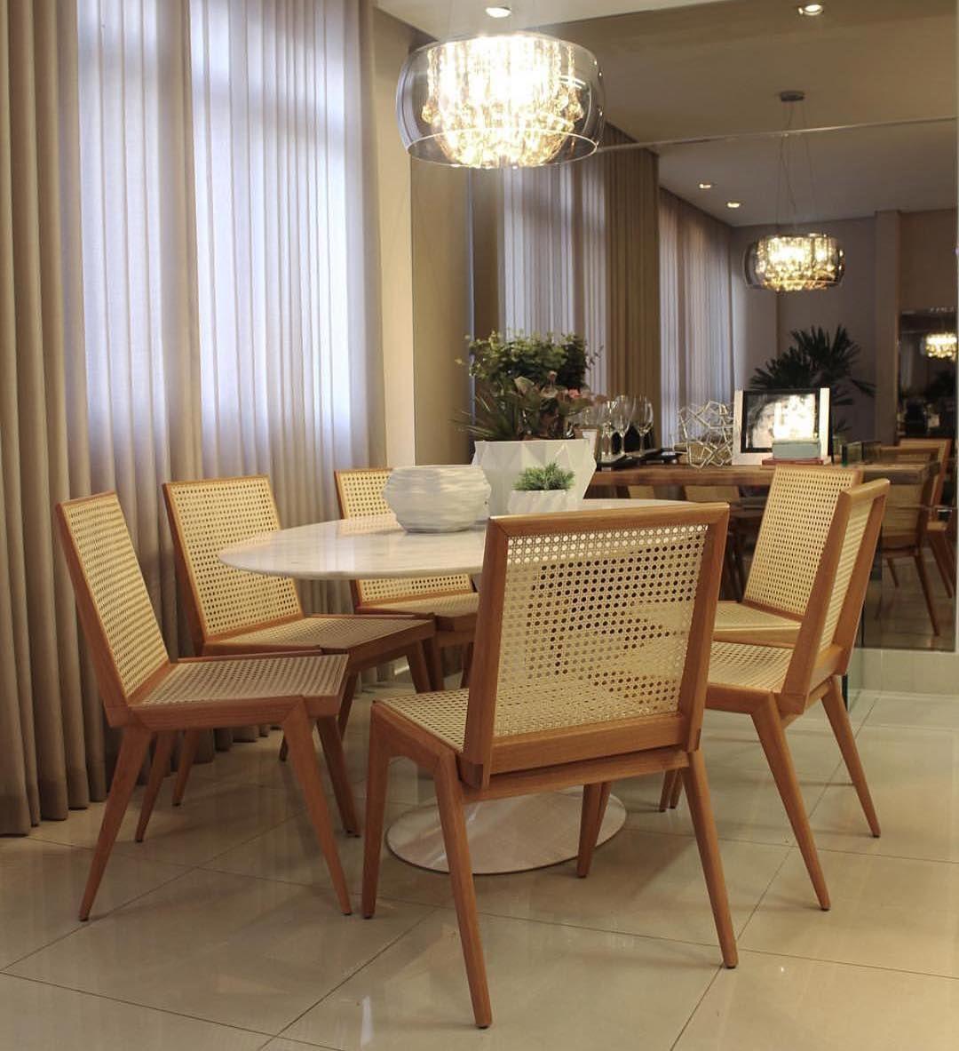 Inspira O Para Sala De Jantar As Cadeiras De Palhinha Est O  -> Acabamento Sala De Jantar
