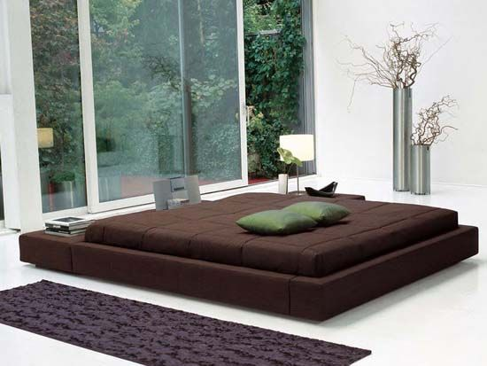 squaring isola – double bed design with removable upholstery