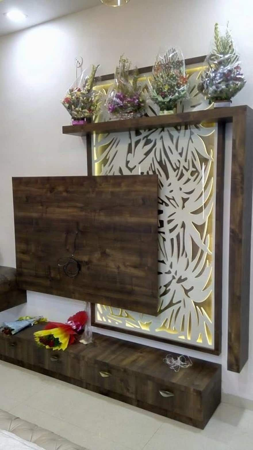 Modern Living Room Lcd Tv Stand Wooden Design Fa18b: Room Interior Design Ideas, Inspiration & Pictures