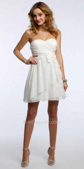 Strapless Chiffon Tiered Cocktail Dress by Camille La Vie  edressme ... e77ce12a7baa