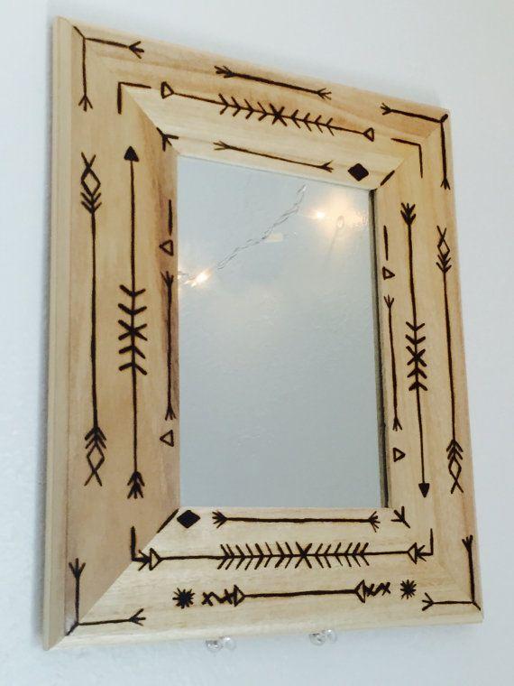 wood burning mirror by eskimostyle on etsy - Wood Burning Picture Frame