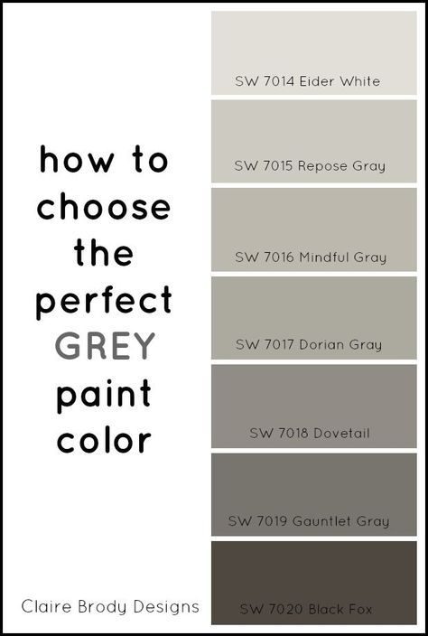 How To Choose The Perfect Grey Paint Color   Claire Brody | Gray Paint  Colors, Gray And Basements