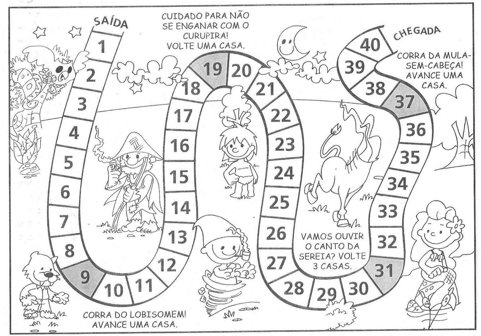 Jogos De Trilha Jogos Folclore Atividades